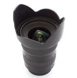 黑色照相机查出的透镜 库存照片