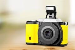 黄色照相机 库存照片