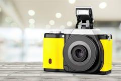 黄色照相机 图库摄影