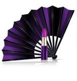 紫色爱好者和唇膏 库存照片