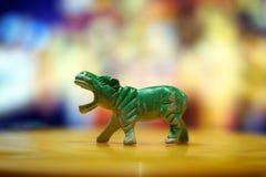 绿色犀牛玩具 免版税库存图片
