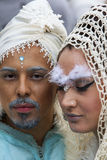 黑色狂欢节装饰屏蔽面具威尼斯 库存图片