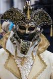 黑色狂欢节装饰屏蔽面具威尼斯 免版税库存图片