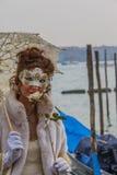 黑色狂欢节装饰屏蔽面具威尼斯 图库摄影