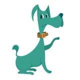 绿色狗动画片 库存照片