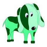 绿色狗 库存照片