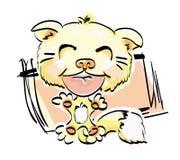 黄色猫 向量例证