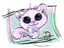 紫色猫 库存例证
