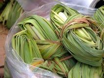 绿色玉米粽子叶子 库存照片