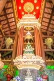 绿色玉菩萨雕象在清莱 免版税库存照片