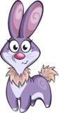 紫色玩具兔宝宝 免版税图库摄影