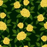 黄色玫瑰 库存例证