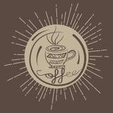 色环从咖啡店的葡萄酒象征 库存图片
