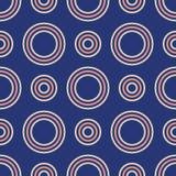 色环的抽象无缝的样式 现代时髦的纹理 向量背景 皇族释放例证