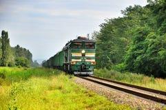 绿色现代活动货车 图库摄影