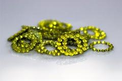 黄色珠宝-柠檬色类型 库存照片