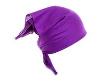 紫色班丹纳花绸 免版税库存图片
