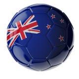 水色球取火镜足球 标志新西兰 库存图片