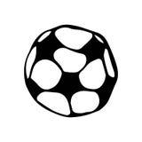 水色球取火镜足球 橄榄球乱画样式剪影 手拉的向量例证 免版税库存图片