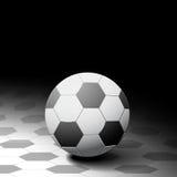 水色球取火镜足球 库存图片