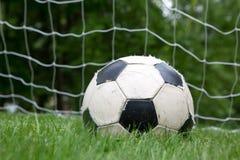 水色球取火镜足球 免版税库存照片