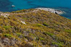色球d ` Alisu,海滩,欧特Corse,海角Corse,可西嘉岛,上部可西嘉岛,法国,欧洲,海岛 图库摄影