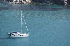 色球d ` Alisu,海滩,欧特Corse,海角Corse,可西嘉岛,上部可西嘉岛,法国,欧洲,海岛 免版税库存图片