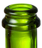 绿色瓶的特写镜头脖子香槟 免版税库存照片