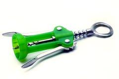 绿色瓶盖启子 库存图片