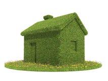绿色生态房子 免版税库存照片