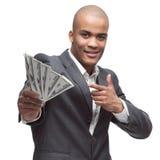 黑色生意人 免版税库存照片