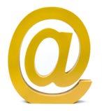 黄色电子邮件标志 免版税库存照片