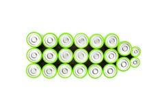 绿色电池 免版税图库摄影