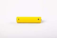 黄色电池 免版税库存照片