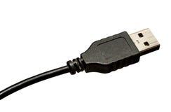 黑色电缆usb 图库摄影