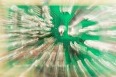 绿色电路板,与徒升作用的抽象背景 免版税库存照片
