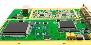 绿色电路板(PCB) 库存图片