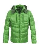 绿色男性冬天夹克 免版税库存照片
