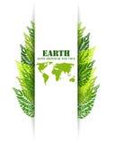 绿色留下地球背景 图库摄影