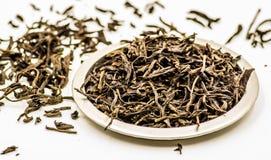 黑色留下茶 免版税库存图片
