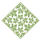 绿色留下装饰品传染媒介 皇族释放例证