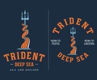 色的三叉戟深海旅行和发现 库存照片
