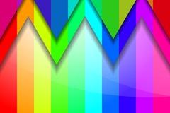 色的三角和条纹 免版税库存照片
