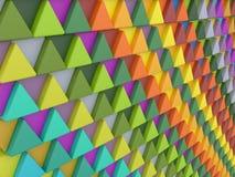 色的三角背景  免版税库存照片
