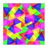 色的三角背景 免版税库存图片