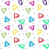色的三角被仿造的背景  库存例证