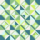 色的三角 无缝的样式,石灰调色板 免版税库存照片