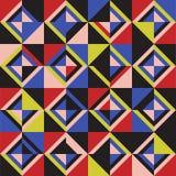 色的三角 无缝的模式 库存图片