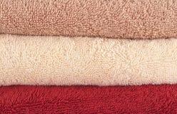 色的不同的毛巾 免版税库存照片