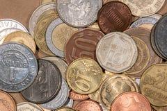 色的世界硬币 库存图片